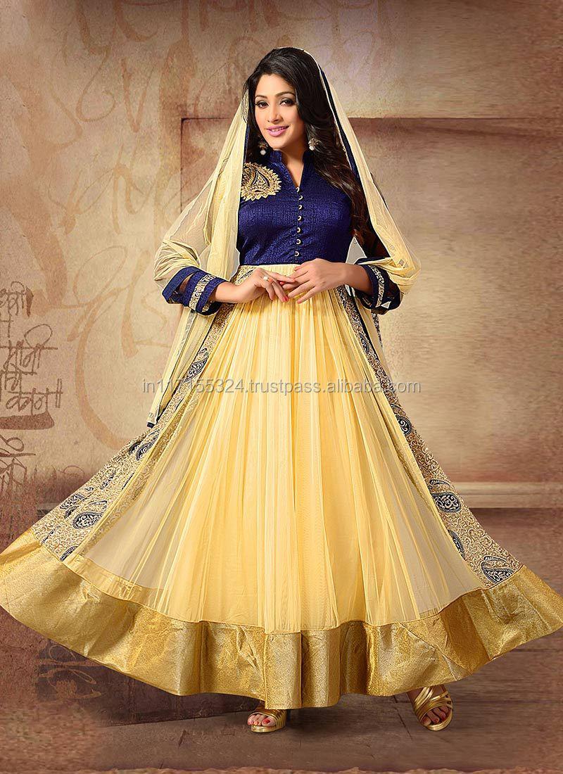 Latest Design Long Anarkali Salwar Kameez\fashionable Designer ...