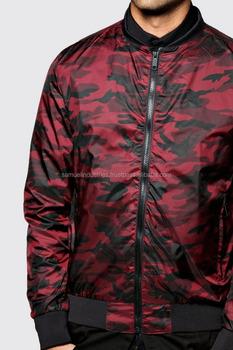 Mens All Over Camo Bomber Jacket quilted print design bomber jacket  Lightweight Varsity Stripe 23993bb8ed