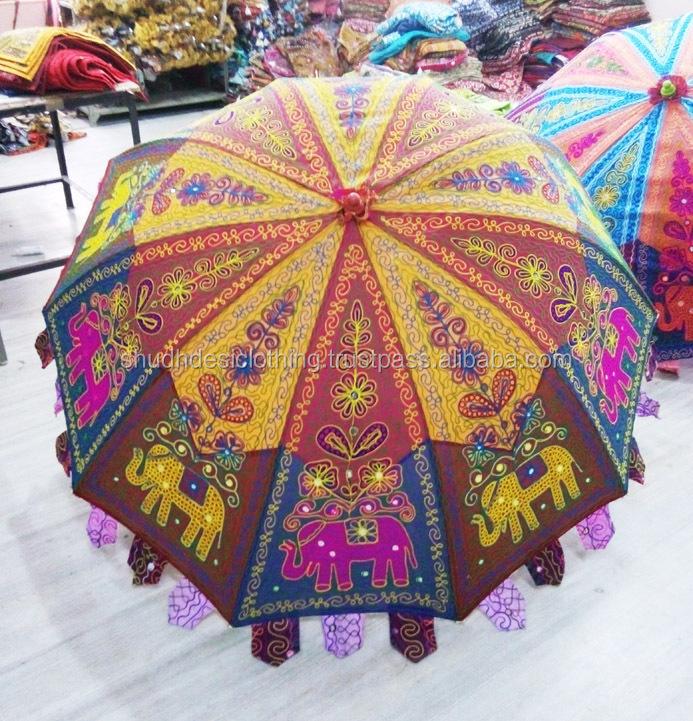 Jaipuri Embroidered Elephant Design Work Vintage Style