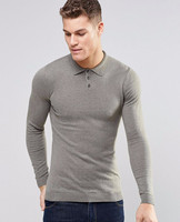 Trend color combination man polo t shirt