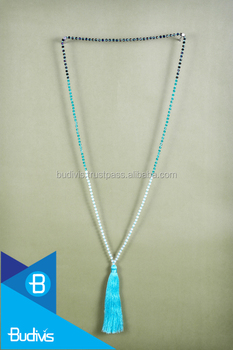 Top tassel necklace wholesale long crystal