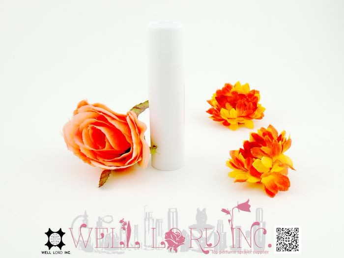 Classical collection ivory white elegant 12ml plastic roll on perfume bottle