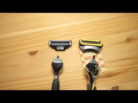 Side by Side: Gillette Fusion ProShield and Gillette Mach3 Razors