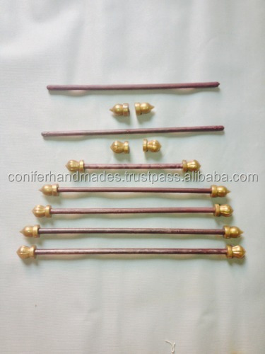 Plastic Scroll Rods In Gold Colours Available In Assorted Sizes For