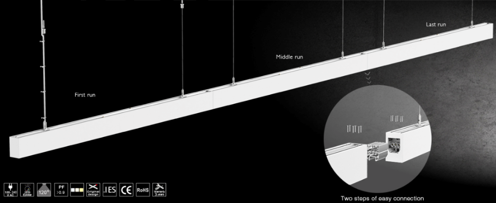 Simple And Modern Continuous Run Led Trucking Linear Light For ...