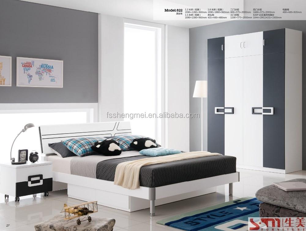 jongens kids kinderen slaapkamer meubels lades bed met rvs benen zwart wit grijs kleur