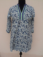 buy pure cotton sarees online indian fabric designer casual tunic kurti 100% cotton tunic kurtas