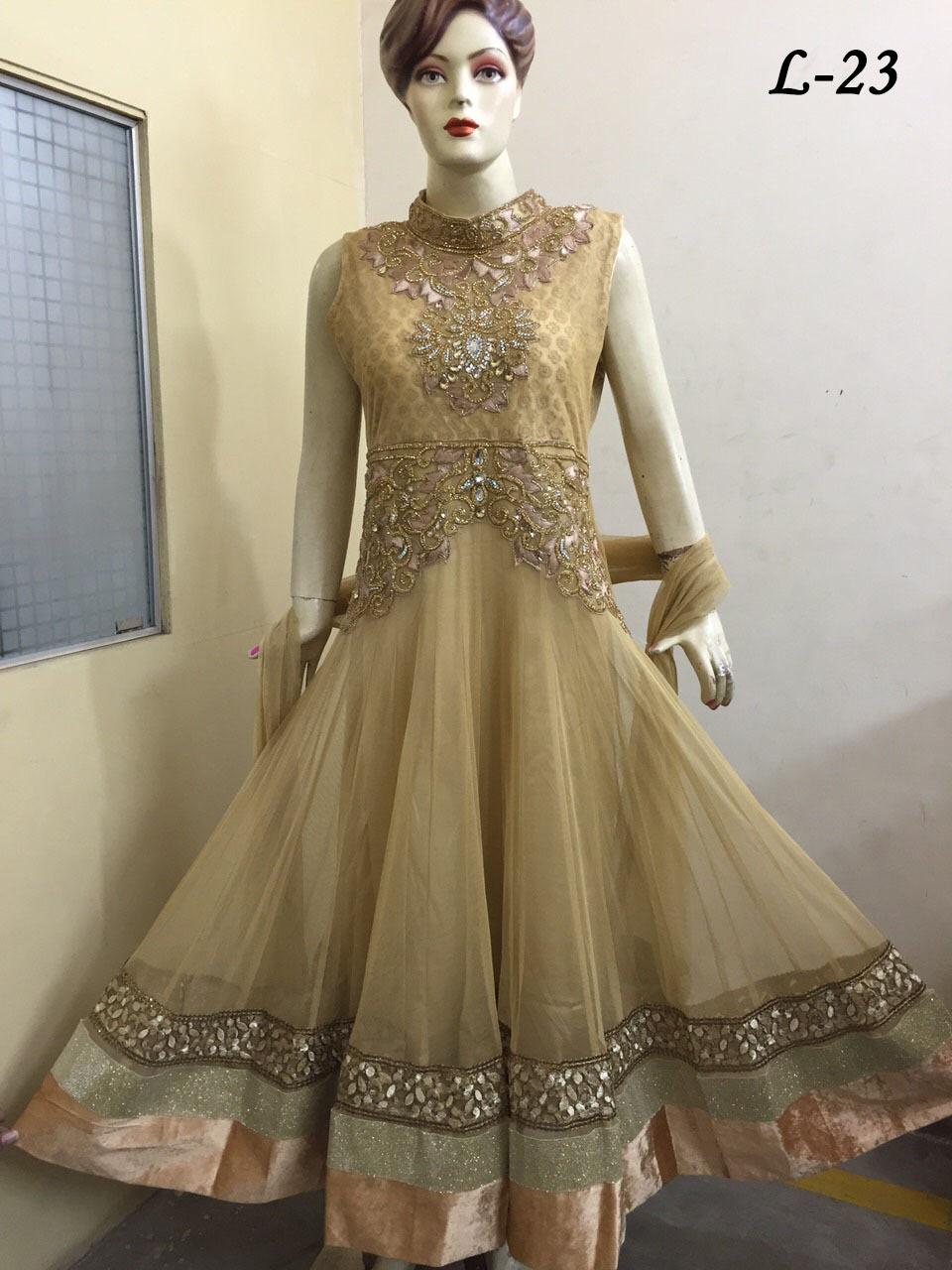 buy popular 7b296 48e23 Lungo Anarkali/abito Vestito Alla Moda In 3 Colori Diversi - Buy Product on  Alibaba.com