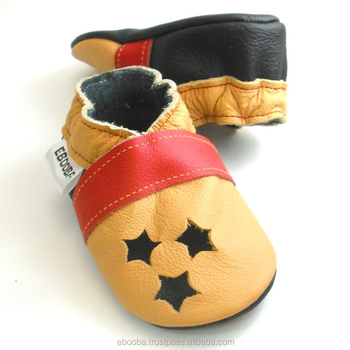size 40 1fb39 54703 Sale Soft Sole Baby Shoes Leather Chaussons Krabbelschuhe Sandal Red Yellow  Stars 6 12 M Ebooba - Buy Sandal Red Yellow Stars,Kids' Shoes Leather Baby  ...