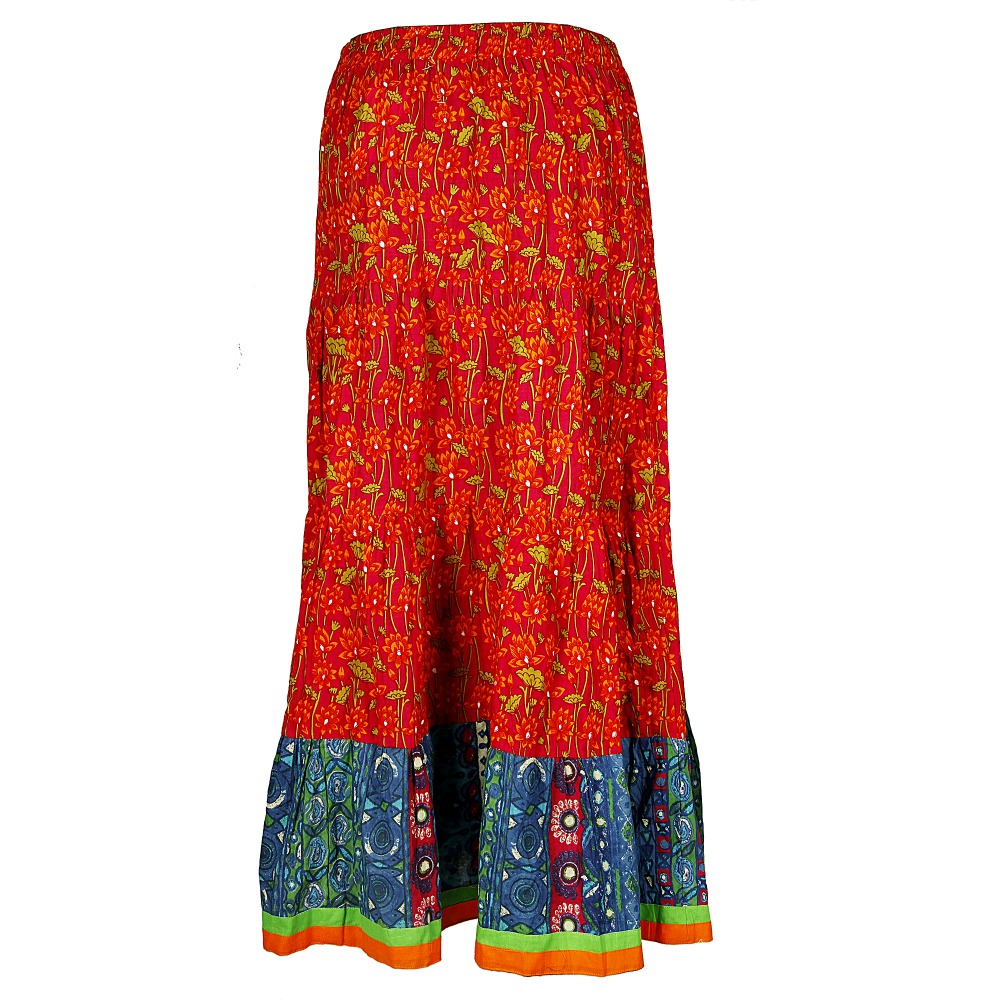 MIX MATCH 2015 LATEST FASHION DESIGN COTTON PRINTED SKIRT