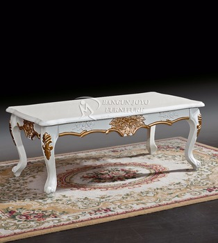 Exceptionnel American Luxury Style Painted Wood Carved Center Coffee Table