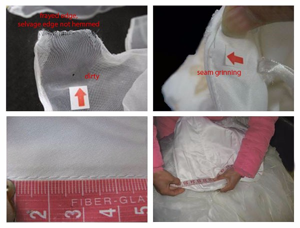 Garment Inspections in Zhongshan / Wedding Dress Inline Inspection and Pre-Shipment Inspection
