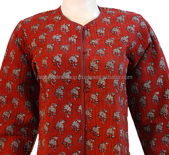 100% Cotton Indian Quilted Designer Winter Jacket Reversible