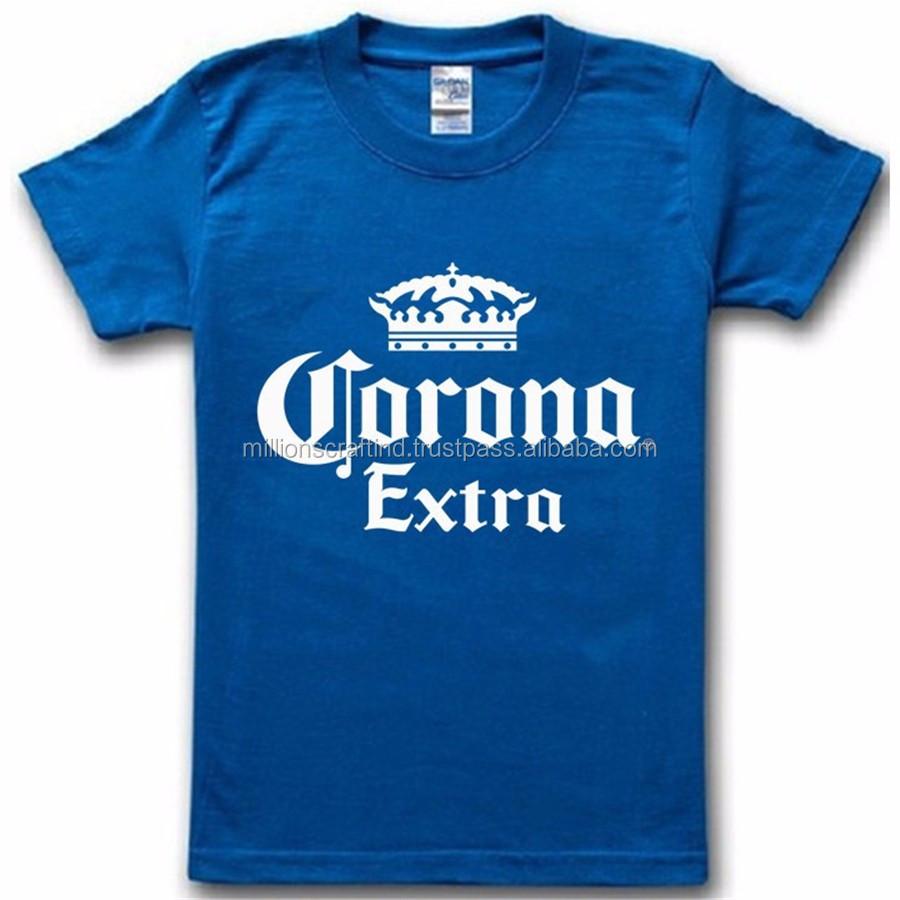 Gold Foil T Shirt With Custom Printing New Design Plain No Brand