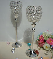 Silver Plated Crystal Candle Holder, Aluminium Candle Holder, Crystal Votive Candle Holder