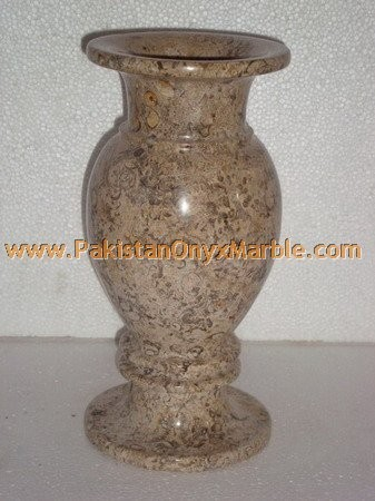 garden or home decorative MARBLE VASES FOSSIL COREL
