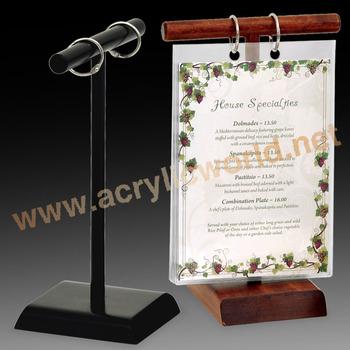 Tabletop Mini Chalkboard Wooden Menu Holders For Restaurants Buy - Table menu holders for restaurants
