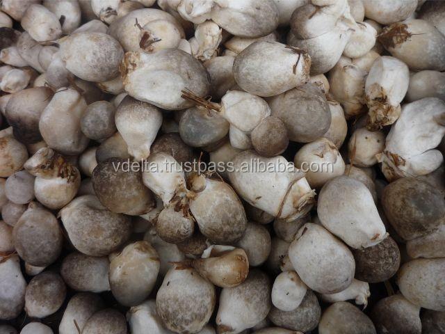unpeeled/peeled mushroom
