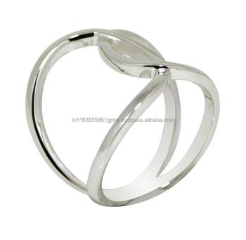 00f3ef0c1fa Anillos de plata fina joyería, diseño atractivo llano anillos de plata, ...
