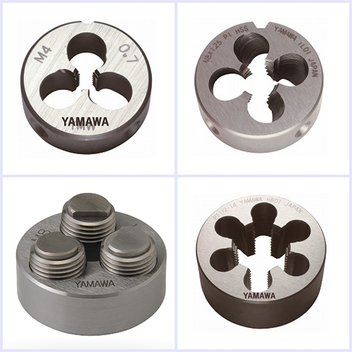 YAMAWA all of dies series enable to make beautiful external threads and high precision