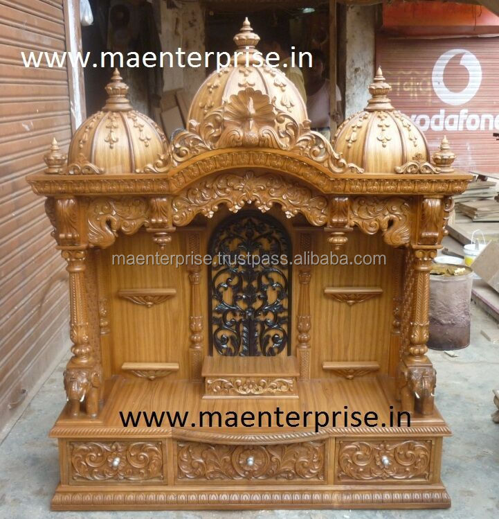 Wooden Mandir For Home Puja Made From Ghana Teak Wood Buy Wooden Mandir For Home Puja Mandir Home Mandir Product On Alibaba Com