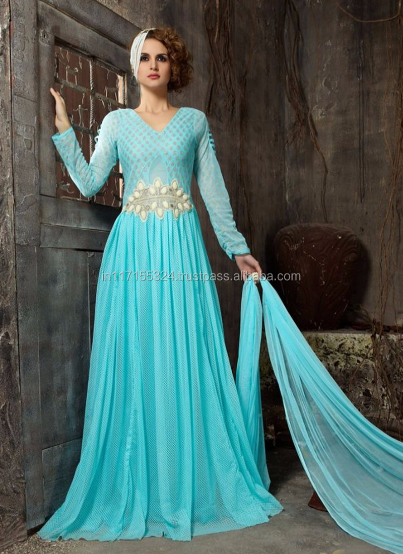 Anarkali Salwar Kameez Beautiful Designer Stylish Gown Party Wear ...