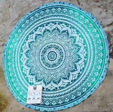 Indian Round Mandala Tapestry Table Cover Beach Throw Towel Tapestries