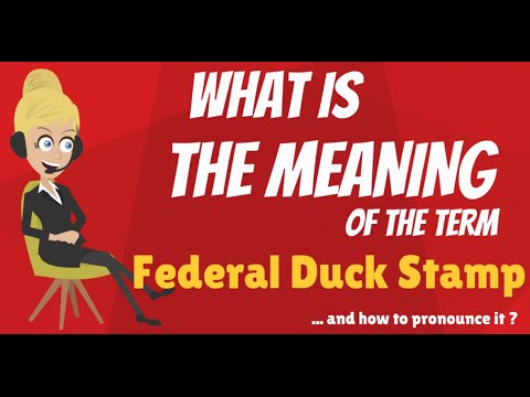 What is FEDERAL DUCK STAMP? What does FEDERAL DUCK STAMP mean? FEDERAL DUCK STAMP meaning