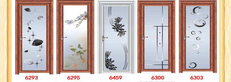 alibaba fashion 2015 home bathroom design aluminum alloy doors offered by zhejiang china