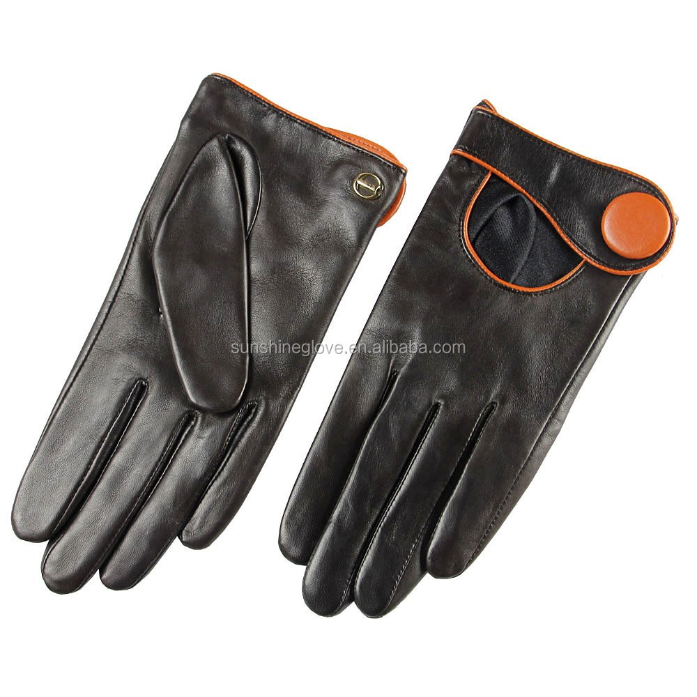 Mens gloves fashion - Fashion Women Beauty Dress Leather Gloves