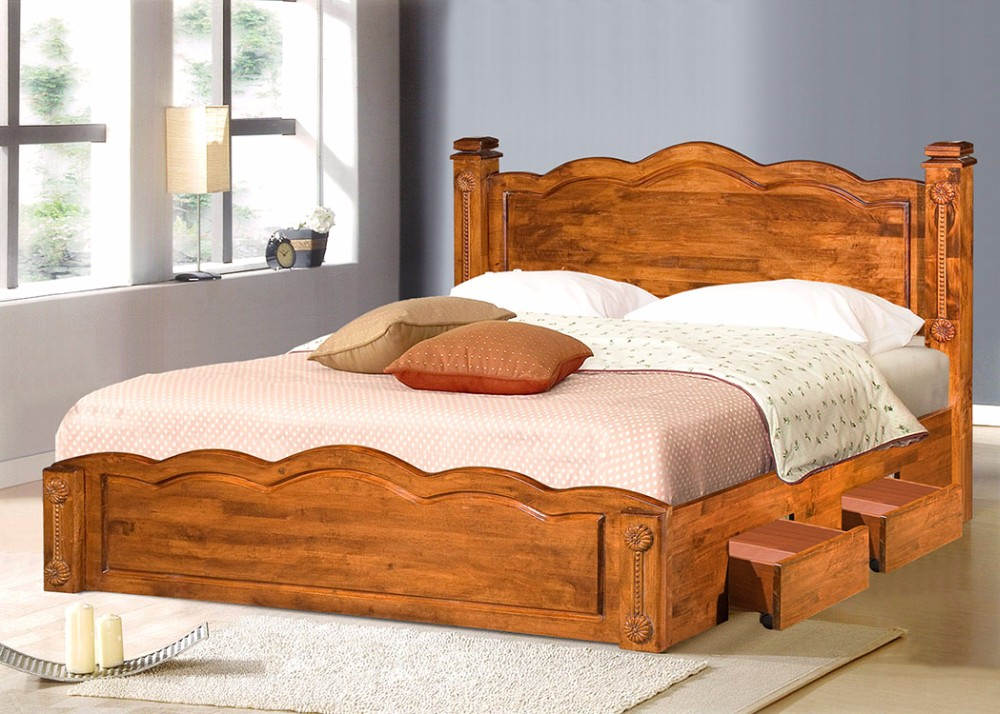 wood double bed designs with box 22  buy wood double bed