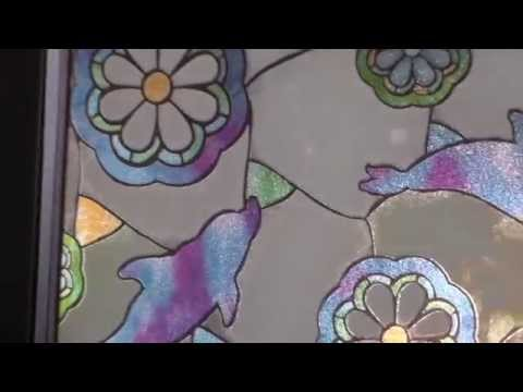 static window film of stained glass
