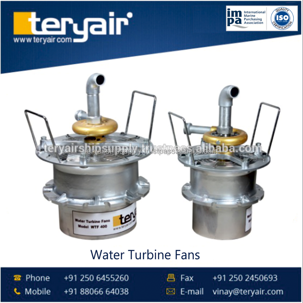 Water Driven Turbine Fans with Long Lasting Quality Features