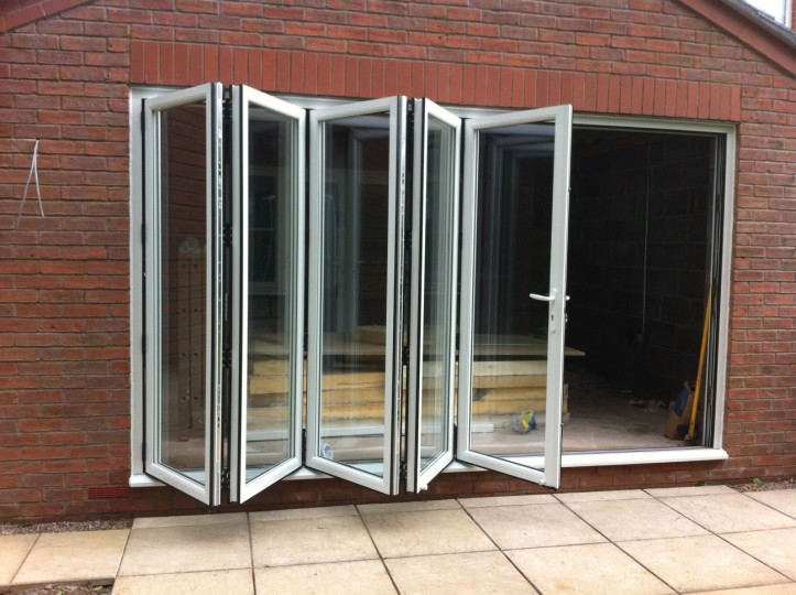Double glazed aluminium folding patio doors buy folding for Double glazed porch doors
