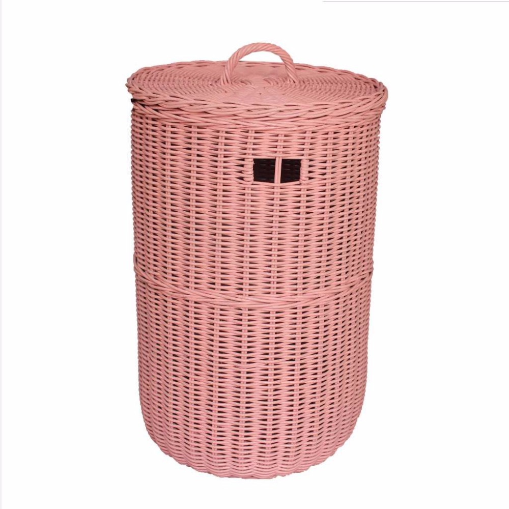 Wicker basket with lid roselawnlutheran - Rattan laundry basket with lid ...