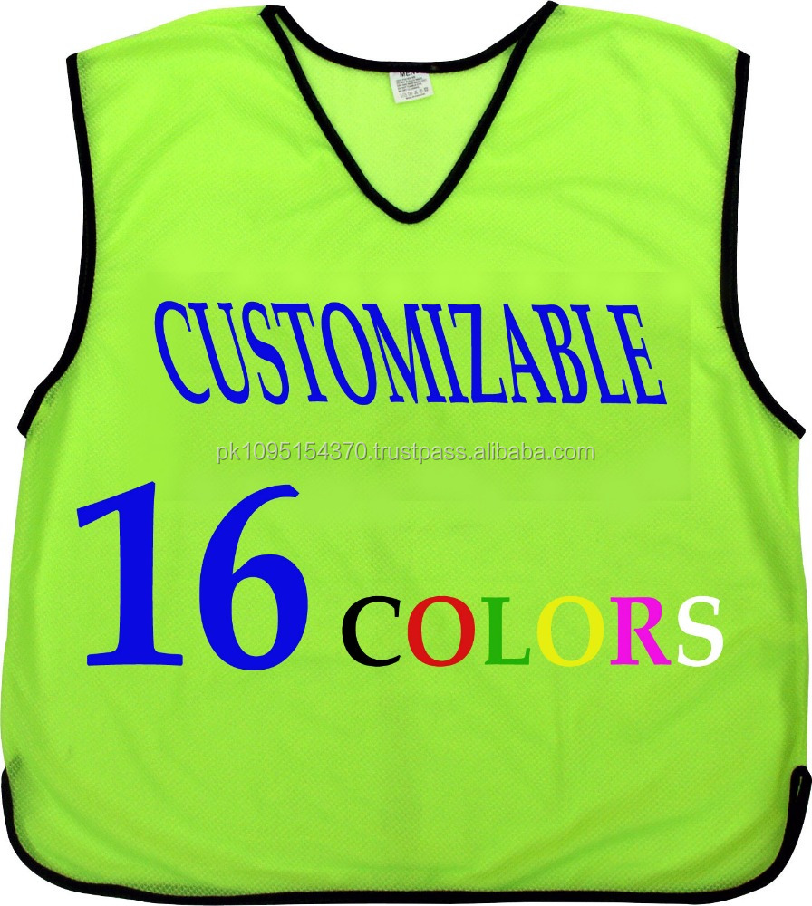 Customize Football Training Mesh Bibs Vests,Soccer & Football Lime ...