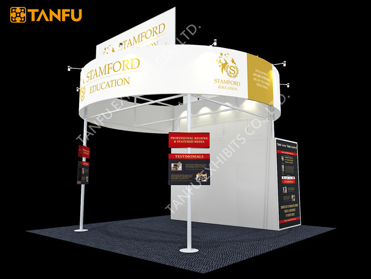 Exhibition Booth Banners : Tanfu circle banner trade show exhibition booth