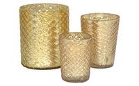 Wholesale 3 Pcs Set Mercury Glass Candle Holders For Weddings Decoration Christmas Decor