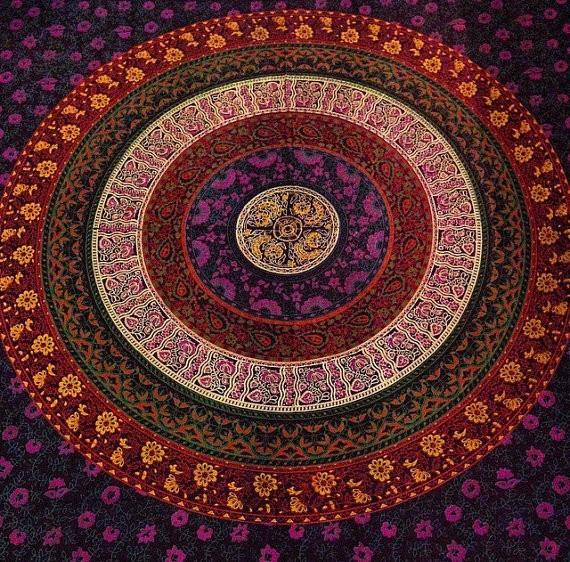 Mandala Indien Drap De Lit Et Draps Decor Coton En Gros Serviette De