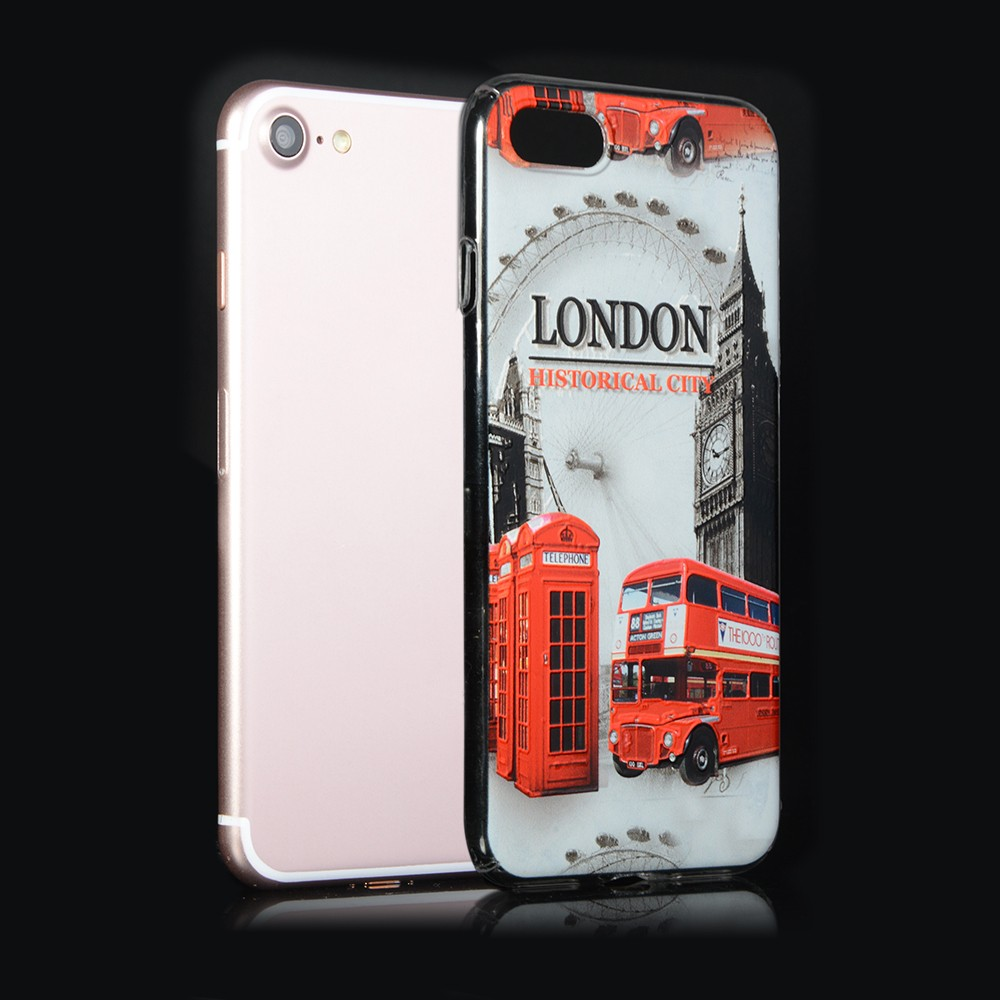 Wholesale ultra slim hard plastic print PC cell phone case for iphone 7 7 plus