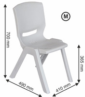 School's Student Chair ( Medium Size ) ABS PP-BC plastic