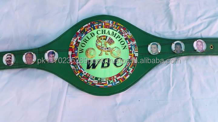 WBC championship belts made of leather