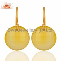 Wholesale Yellow Chalcedony Gemstone 925 Sterling Silver Earring Wholesale Customized Indian Party Wear Jewelry Manufacturer