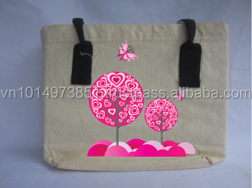 Fancy Popular handled Cotton Tote bag