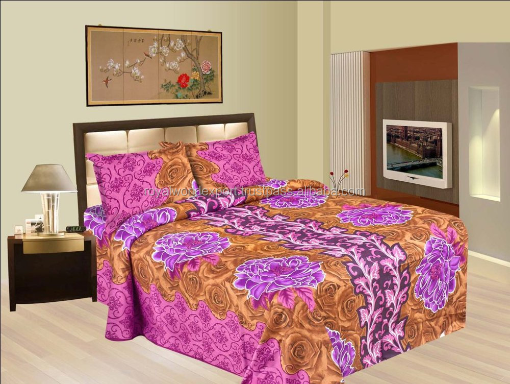 Bon Indian Soft Feeling Custom Printed 100% Cotton Beed Sheet Fabric In India  Textile, Bedding