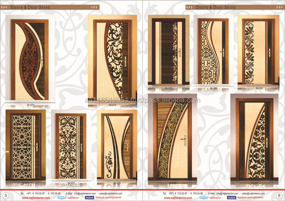 Interior veneer design doors by najib interior ni 001 for Door design catalogue