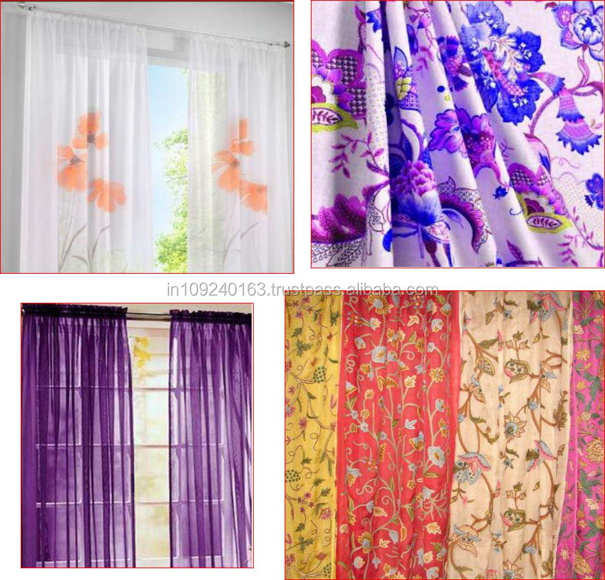 Indian Style Window Curtains Cotton 100 Product On Alibaba