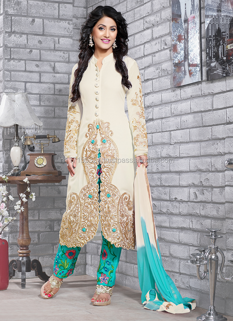 Idyllic Party Wear Georgette Salwar Long Suits Collectiondesigner Stylish Kameez