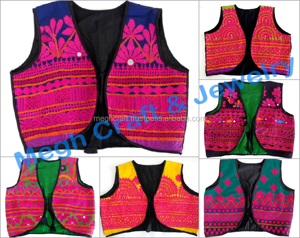 Indian embroidered jacket-Gujarati traditional handmade jacket---vests-ladies shrug jacket-Navratri embroidered koti