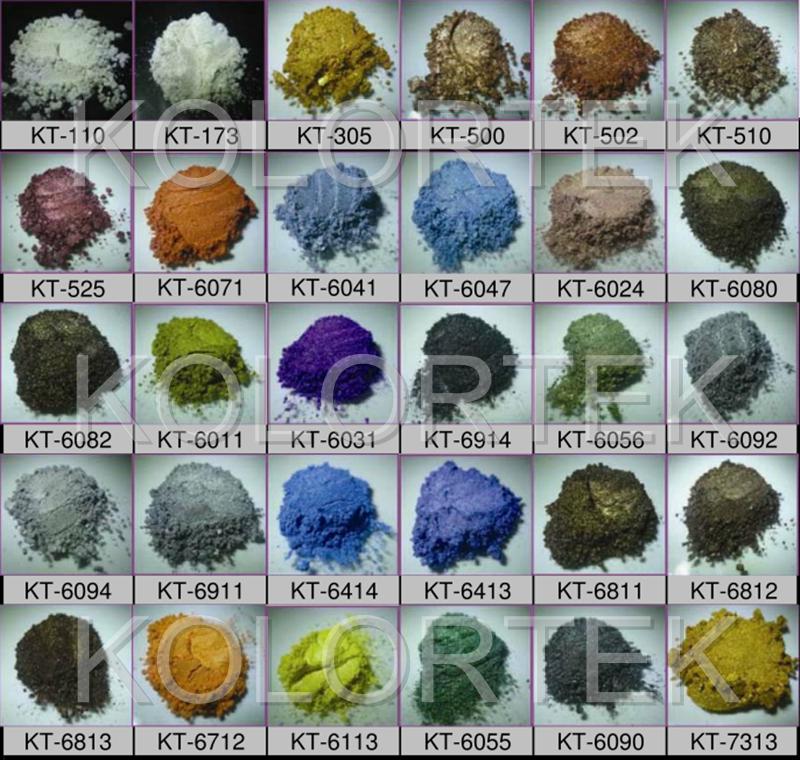 Metallic Epoxy Floor Pigments Mica Powders Used For Resin